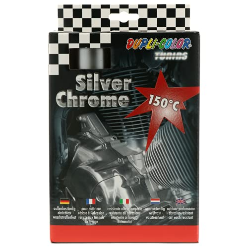 Preisvergleich Produktbild DUPLI-COLOR 674570 Silver Chrome Set Auto 400 ml