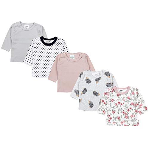 TupTam Baby Mädchen Langarmshirt Gestreift 5er Set, Farbe: Farbenmix 3, Größe: 74