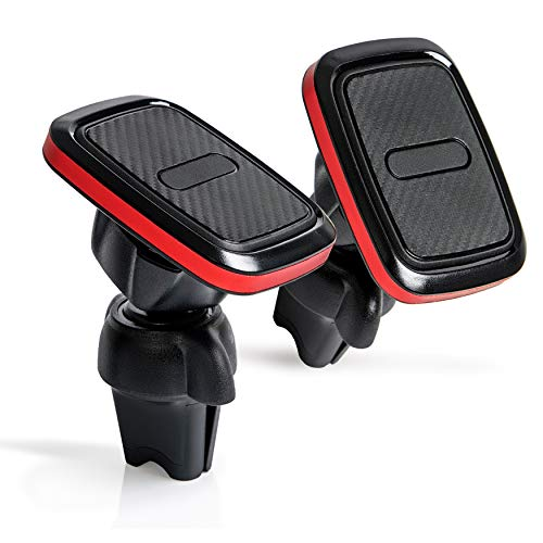2 Pack Car Cell Phone Air Vent Mount with Magnetic Grip- for iPhone, Samsung and Other Smartphones - 360 Degree Swivel, Quick Release Holder