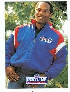 Amazoncom O J Simpson Football Card Buffalo Bills 1991