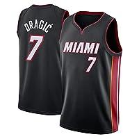 バスケットボールジャージ、ゴランドラギッチ (Goran Dragic)#7マイアミヒート、ポイントガードシューティングガード通気性スポーツクラシック刺繍レトロフィットネスベスト、バスケットボールユニフォーム (Color : C, Size : Large)