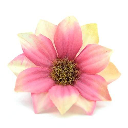 30pcs 6cm accessoires kunstbloemen gerbera verkoop van nep-partij hoofd Scrapbooking DIY kruis decoratie bloem kroon prijs,roze verloop