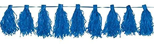 amscan Bright Royal Blue Tassel Garlands 3m