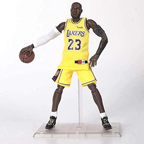 Taisei NBA L.A. Lakers 22cm Figura De Acción No. 23 Lebron James PVC de protección Ambiental Conjunta móvil Estatuas De Juguete para colección de Aficionados