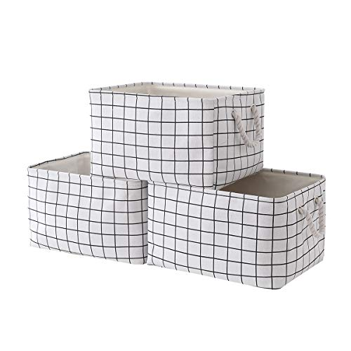 Sacyic Large Storage Baskets for Organizing [3-Pack] Fabric Baskets for Shelves, Decorative Baskets for Clothes, Empty Gift Baskets