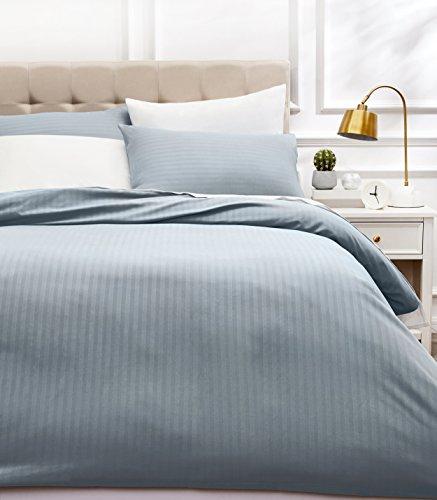 AmazonBasics - Juego de ropa de cama con funda nórdica de microfibra y 2 fundas de almohada - 260 x 220 cm, gris scuro