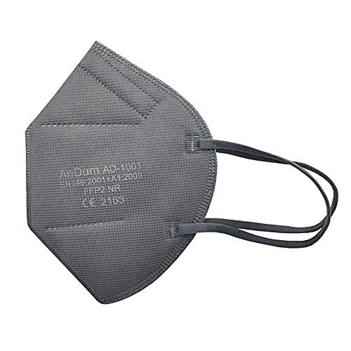 Null Karat 5 Stck FFP2 Masken Atemschutzmasken bunt farbig viele Farben Farbe Grau
