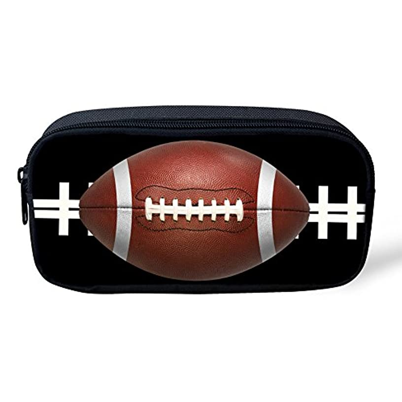 Youngerbaby School Students Pencil Case Office Pen Bag Pouch (American Football)