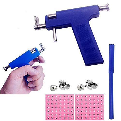 Ear Piercing Gun Body Piercing Tool Kit with 98 pcs Ears Studs Nose Navel Piercing Machine… (piercing kits)