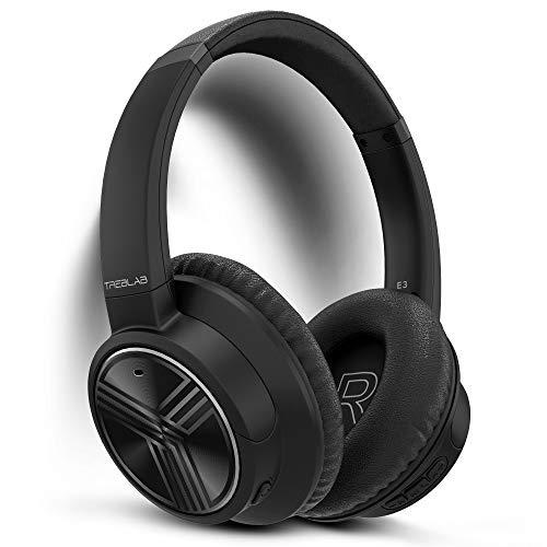 TREBLAB E3 - Active Noise Cancelling Over-Ear Wireless Headphones, Bluetooth 5.0 Over Ear