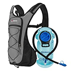Lightweight and Comfortable Hydration Pack: Compact and low-profile, perfectly built for outdoor sports like running, road biking and hiking. They feel light and stable on your back and won't create any wind resistance. Adjustable Shoulder/Chest Stra...