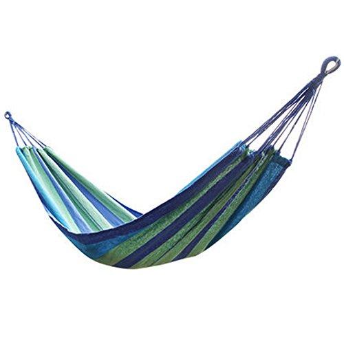 multifonctionnel Camping Hamac à suspendre Lit Taille simple [2*0.8 m] Bleu/vert
