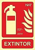 Normaluz RD00301 - Señal Luminiscente Extintor PVC...