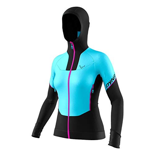 DYNAFIT W Speed Hybrid Jacket Colorblock-Blau, Damen Isolationsjacke, Größe M - Farbe Silvretta