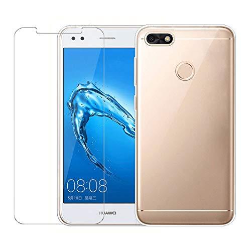 LJSM Funda Huawei Y6 Pro 2017 / Huawei P9 Lite Mini Transparente...