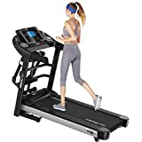 Fan-Ling Folding Electric Treadmill 2.5HP High Power Treadmill,Compact LED Display Treadmill Foldable, Indoor Treadmill for Home Gym Fitness Workout Jogging Walking Running