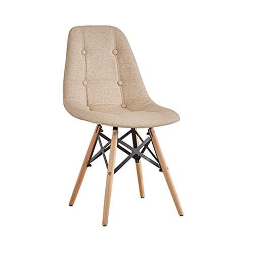 Chyuanhua houten stoel creatieve slaapkamer moderne minimalistische manier comfortabele computer stoel dikke schuimstof bekleding van massief houten poten vaste metalen stents vintage houten stoel