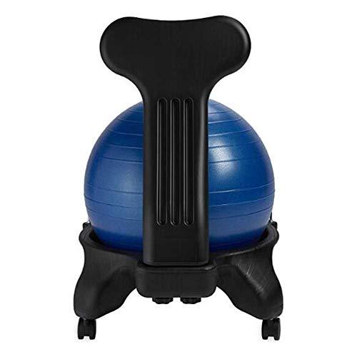 Fitness Beweglicher Massagestuhl Yoga Ball Stuhl Office Home Seat Explosionsgeschützter Verdickter Ballhocker (Color : Blue, Size : 52 * 79cm)