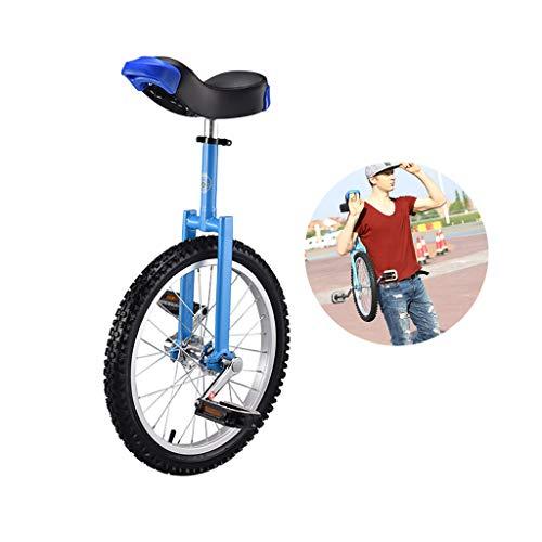 LIfav 18 Zoll Einrad Cycling Bike, Mountainbike in Rad Rahmen, Gleichgewicht Übung Einzelnes Rad Fahrrad-Aluminium-Rad, Geeignet Für Menschen Von 1,4 Bis 1,65 Metern,Blau