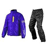 コミネ(KOMINE) バイク用 ブレスターレインウェアフィアート ディープ/ブルー 2XL RK-539 755 雨具 カッパ 防水