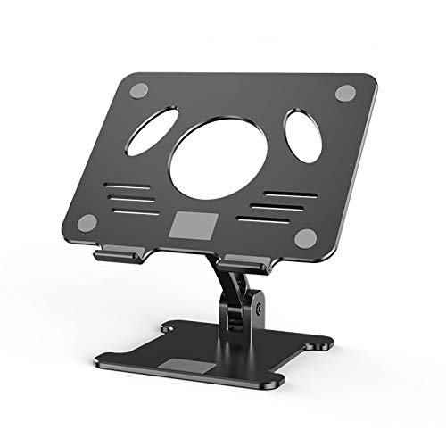 WZQZ Laptop Stand Desk Adjustable Height,Portable Multi-Angle Foldable Notebook Riser Holder with Heat-Vent,for Home Office,Compatible with 11'-17.3' Computers