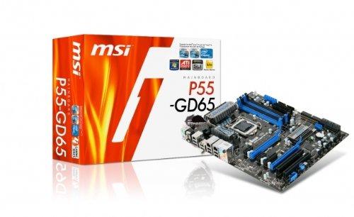 MSI Mainboard P55 GD65 Intel P55 Sockel LGA 1156 DDR3 Speicher PCI-e ATX