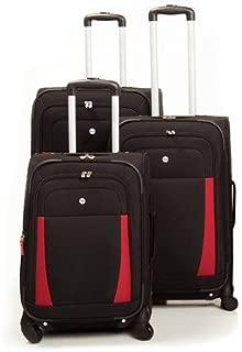 West Lake 3 Piece Luggage Set Color: Black