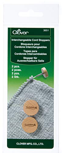 Clover Needlecraft 2 Piece Interchangeable Cord Stoppers