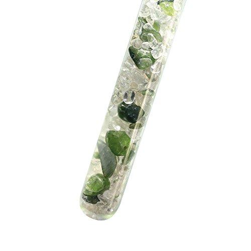 Edelstein-Stab zur Trinkwasser-Energetisierung, 25 cm, gefüllt mit feinen Edelsteinen: UNABHÄNGIGKEIT