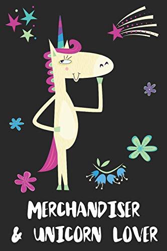 Merchandiser & Unicorn Lover: Blank Lined Notebook Journal