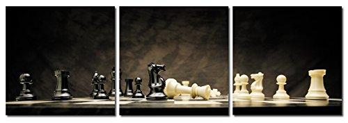 Huis en decoratie muurschildering set van 3 fotoprint mat kunstdruk afbeeldingen op houtvezelplaat eenvoudige montage modern 3 mal 40x40 cm zwart, wit