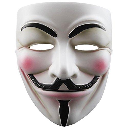 TOOGOO Mascara de Cosplay de Resina V para Vendetta Anonymous Guy Fawkes Juguetes Accesorio de Disfraz de Fiesta