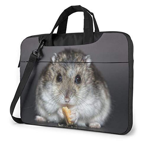 15.6 inch Laptop Shoulder Briefcase Messenger Hamster Dwarf Hamster Good Luck Tablet Bussiness Carrying Handbag Case Sleeve