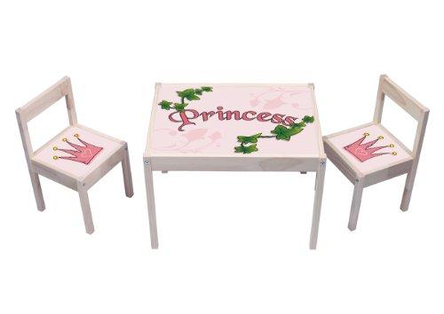 """""""Pink Princess"""" Aufkleber - KA02 - (Möbel nicht inklusive) - Möbelsticker passend für die Kindersitzgruppe LÄTT von IKEA"""