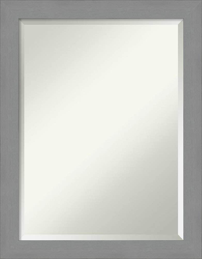 Amanti Art Vanity Bathroom Brushed Nickel M Wall Mounted Miami Mall Frame Price reduction