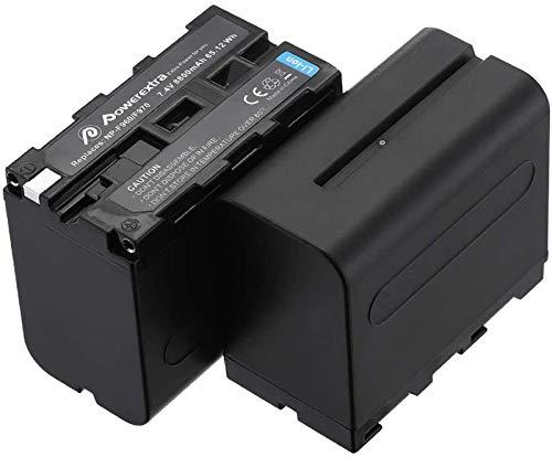 Powerextra 2 Batteria di Sostituzione per Sony NP-F970 F960 F930 F950 da 8800mAh per Sony DCR-VX2100...