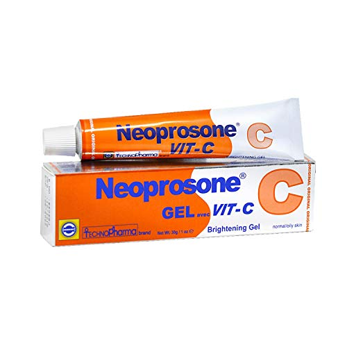 Neoprosone Brightening Gel - Formulated to Fade Dark Spots on: Neck, Face, Harmpit - Skin Brightening Properties, with Alpha Arbutin Complex and Vitamin C