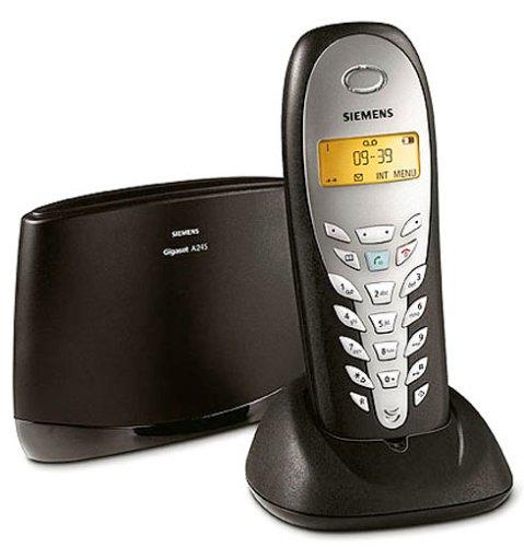 Siemens Gigaset A245 espresso, schnurlos Telefon DECT mit AB, Anruferanzeige CLIP, Freisprechen