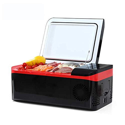 MQJ Refrigeration Compressor Car Refrigerator Heating and Cooling Mini Refrigerator Car Refrigerator, 15L Portable Car Fridge Freezer