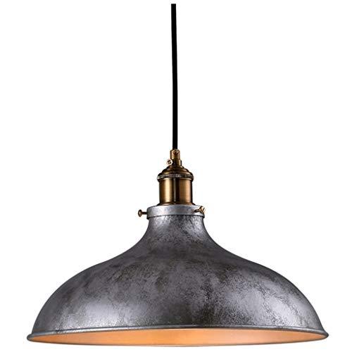 SPNEC De Plata del Estilo Industrial Hierro Forjado Lámparas, iluminación Decorativa con Buen Efecto de iluminación y de fácil Limpieza