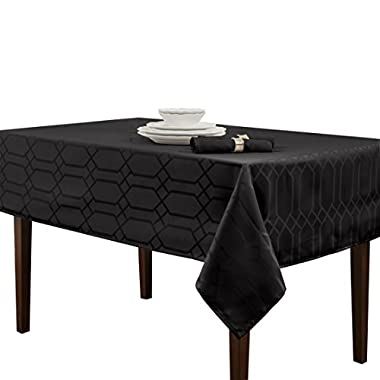 Benson Mills Chagall Spillproof Tablecloth,Black,60 X 84