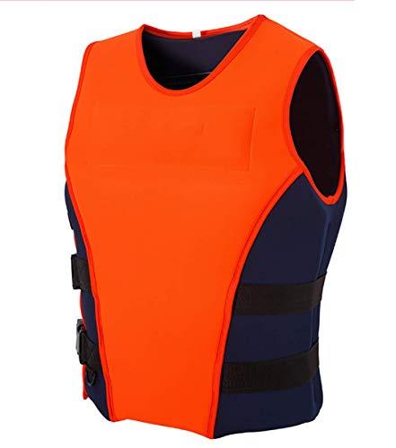 LIKCO Schwimmen Schwimmweste, Erwachsene Neopren-Sicherheitswesten Für Wasser-Ski Wakeboard Baden Angeln Vest Sicherheit Für Bootfahren Kajak,XL