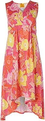 Ruby Rd. Women's Petite Floral Puff Print Dress, Orange Multi, PS
