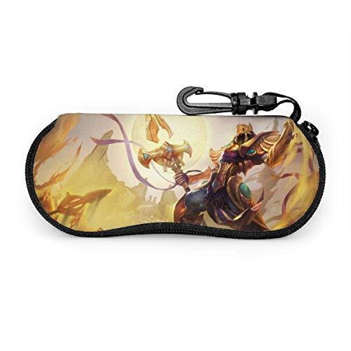 League Azir Der Kaiser des Sandes Brillenetui, tragbarer Reisereißverschluss Sonnenbrillenetui Brillentasche Guard Set