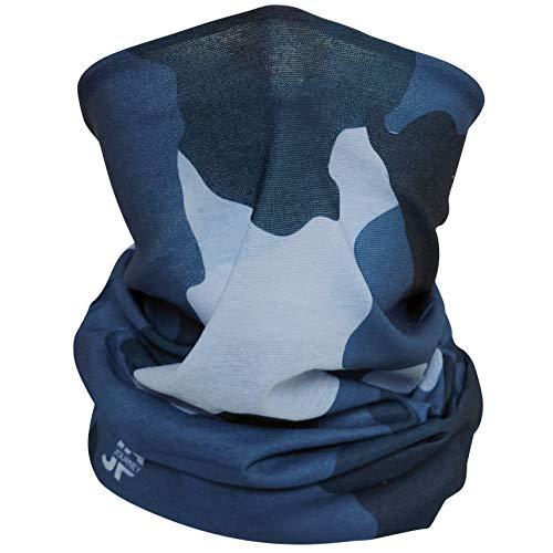 JP Journey Multifunktionstuch Camouflage, UV 50 Schutz, Recycling, Sport und Freizeit, Blau, 49 x 24 cm