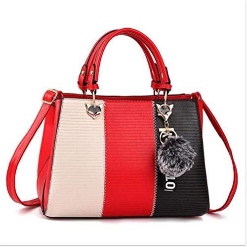 ASDFGH handtassen voor vrouwen met meerdere binnenzakken in mooie kleurencombinatie