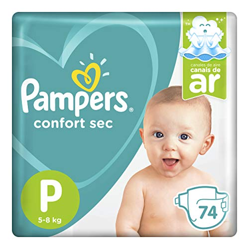 Fralda Pampers Confort Sec P 74 Unidades, Pampers