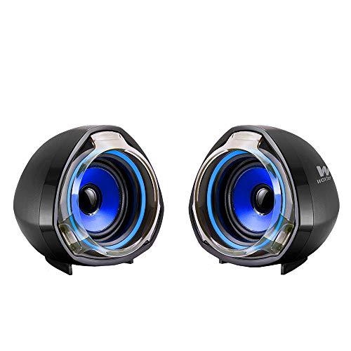 Woxter SO26-055 Big Bass 70 - Altavoces para PC (Mando de Control de Volumen, 15 W de Potencia, Conexiones 3.5 mm, USB, óptimo para PC/Smartphones/Videoconsolas) color Negro/Azul