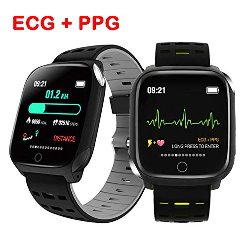 BLUEBONE Smart Watch, Fitness Tracker F16 Blood Pressure Heart Rate Sleep Monitor Pedometer Bracelet Inteligente Reminder Stopwatch Smartwatch with iOS Android Phone Best Gift for Men Women (Black)