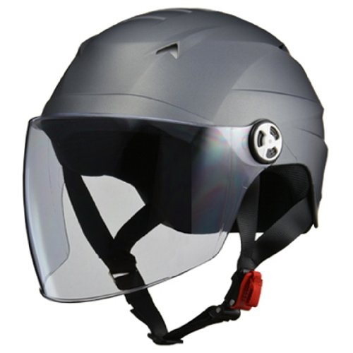 LEAD RE40 Jet SERIO Motorcycle Helmet with Shield Half Helmet Smokey Silver